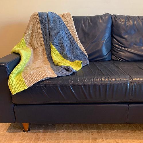 Azure Lime Throw Blanket