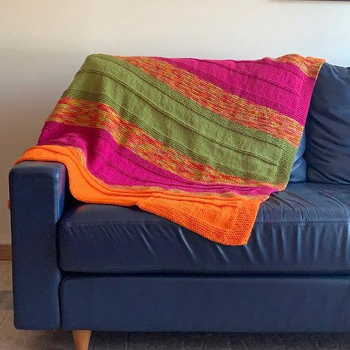 Colour Burst Blanket Throw