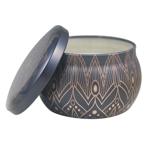 Black and Gold Lavender Scented Candle Tin