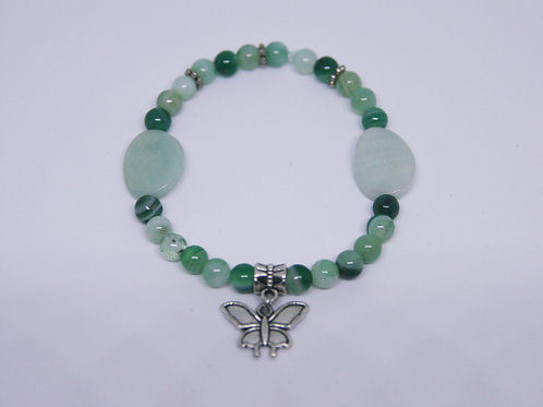 Double Amazonite and Aquamarine Agate Bracelet