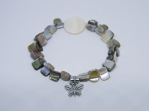 Neutral Shells Butterfly Bracelet