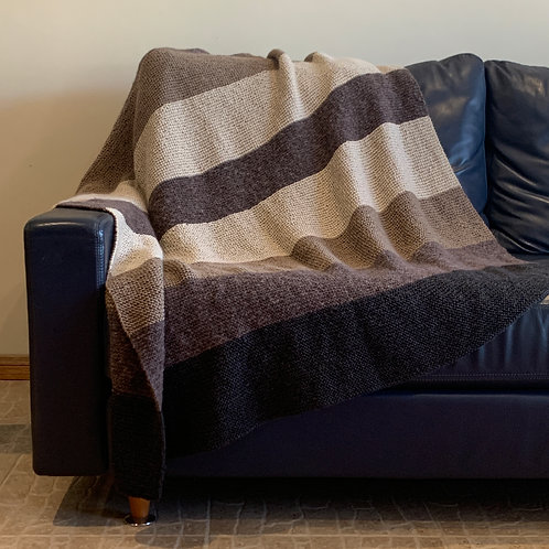 Chocolate Cappuccino Throw Blanket