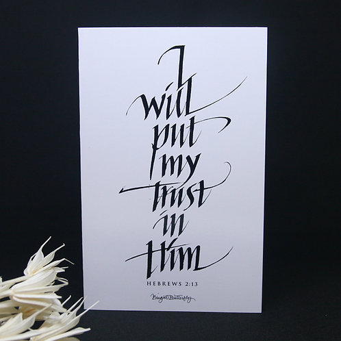 Trust Faith God Bible Quote Card Front View