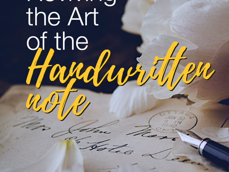 Reviving the Art of the Handwritten Note