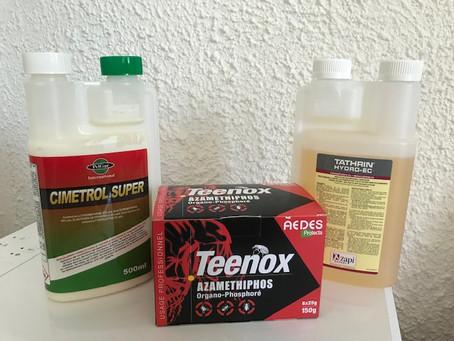 Insecticide contre les punaises de lit.