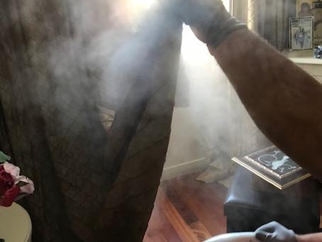 Traitement vapeur contre les punaises de lit.