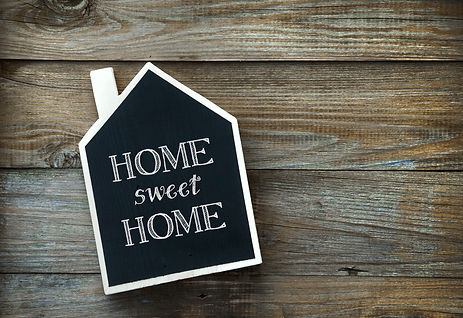 House Shaped Chalkboard sign  on rustic wood Home Sweet Home