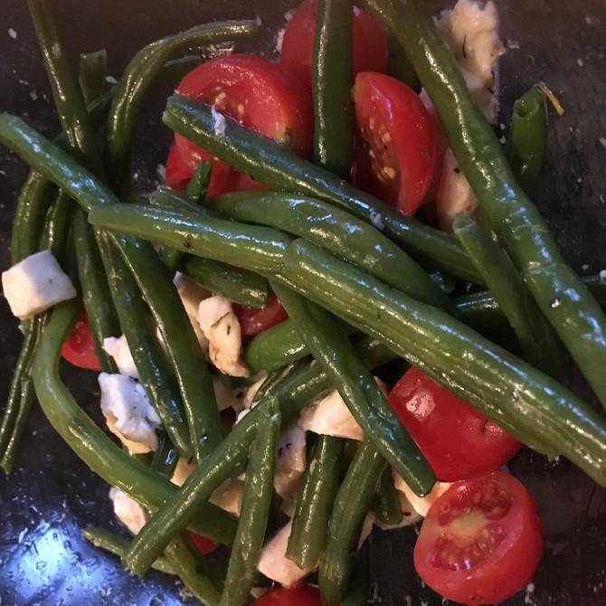 Haricots Vert à l'huile d'olive et tomates