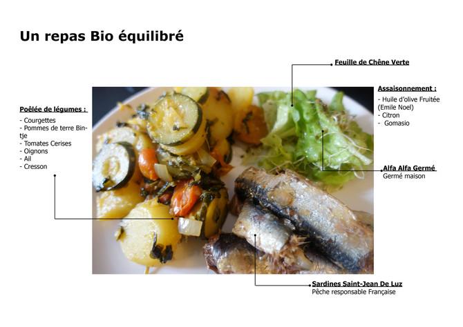 Poêlé de Légumes avec Sardines et Salade