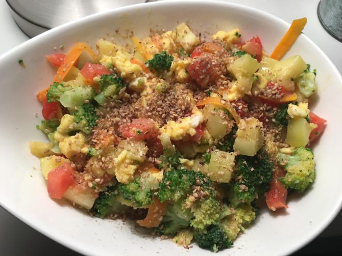 Wok Brocolis et Pommes de terre
