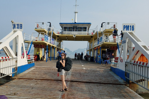 On the ferry from Halong