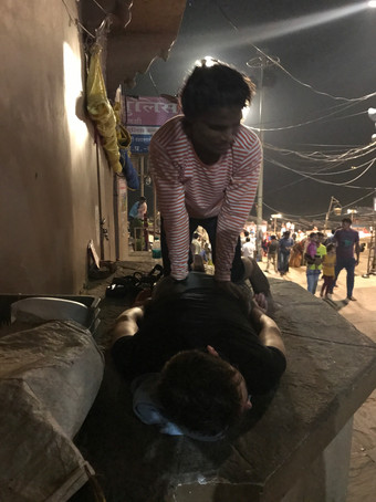 Street massage from a different angle