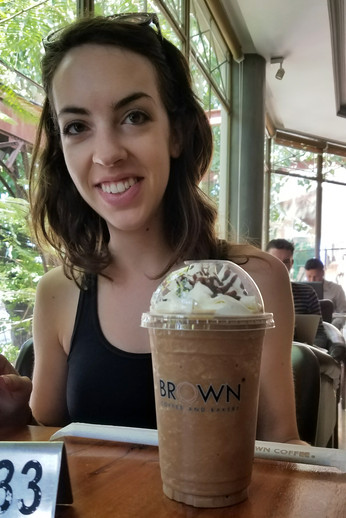 Fancy frozen coffee