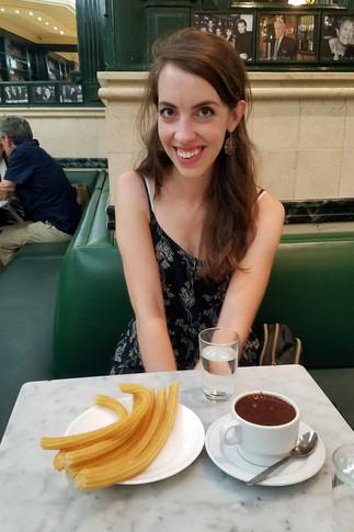 3 a.m. churro stop at San Ginés Chocolateria