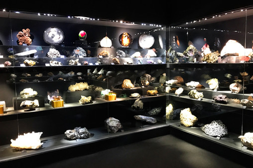 A temporary gemstone exhibit where we got to see some exciting minerals from Illinois, among other places.