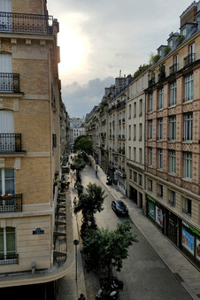 The view from our Airbnb in Montmartre