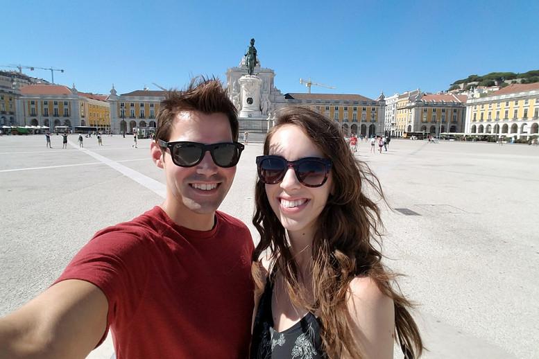 The main square near the Tagus