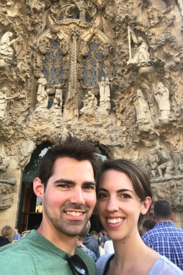 With the extra time, we were able to book tickets and tour the inside of La Sagrada Familia.