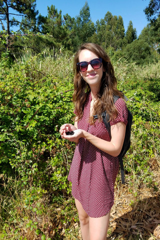 Picking blackberries we found by the side of the road