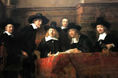 We walked to the Rijksmuseum on the other side of town to see this Rembrandt and a lot of Vermeer.