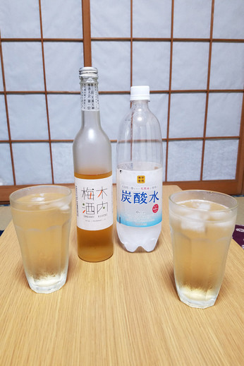 Jade also introduced us to plum wine and sparkly water