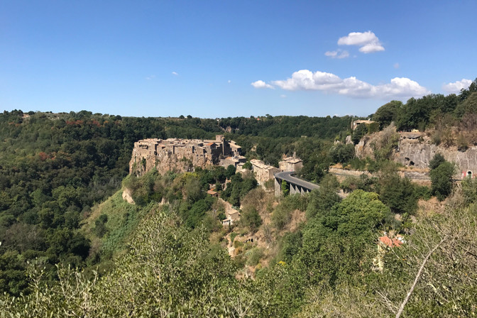 We went to Calcata for dinner, then returned the next day to explore a bit more.