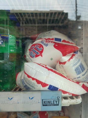 Milk sold in bags