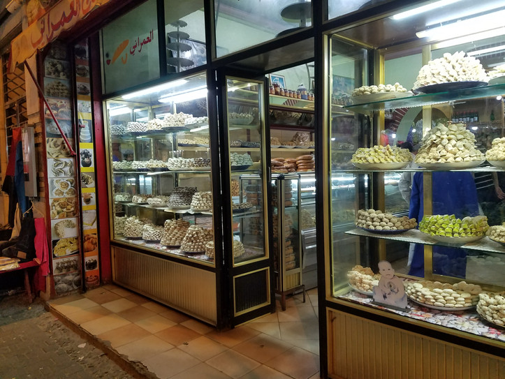 We visited during the last few days of Ramadan, so this sweet shop was gearing up for Eid.
