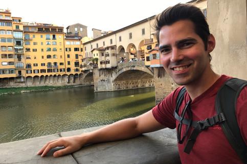 Brandon by the Ponte Vecchio