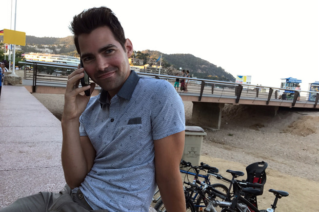 Brandon calling his family