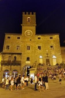 The main piazza at night