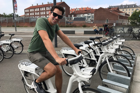 We used these electric bikes to get from our Airbnb to the center of the city.