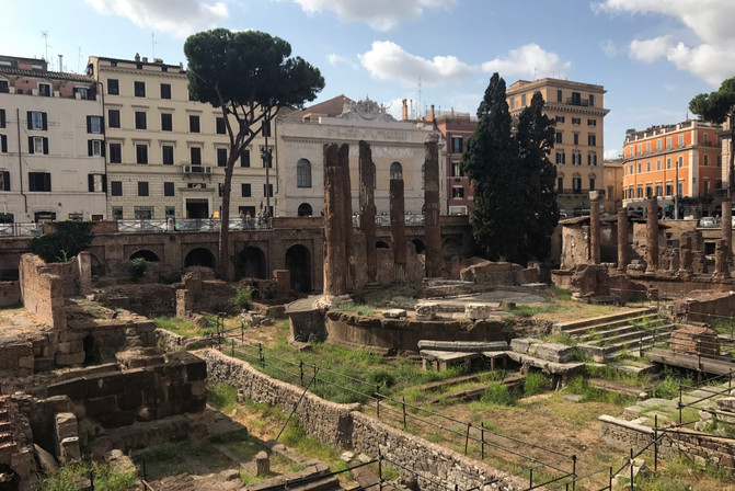 This is where Caesar was killed.