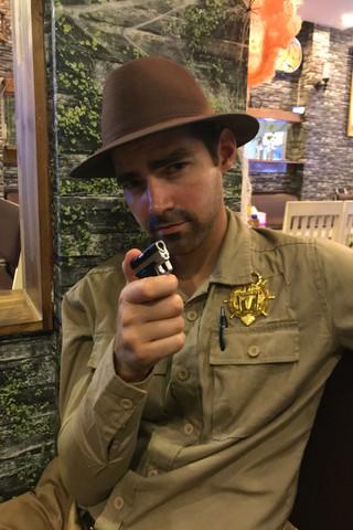 Brandon had a tiny pistol lighter