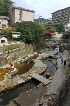 We decided to visit an onsen (hot spring) in a nearby town.