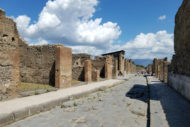 This is what much of Pompeii looks like as you walk around. It's huge!