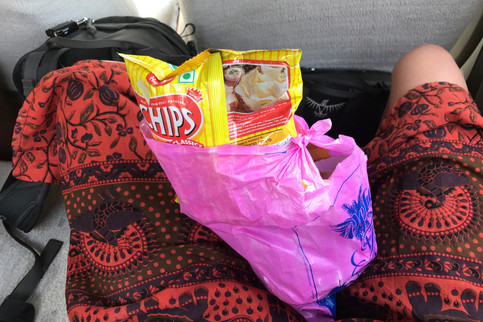 Car snacks. We barely ate anything all day in the car other than chips and soda.