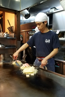 This was some of the best okonomiyaki we had in Japan.