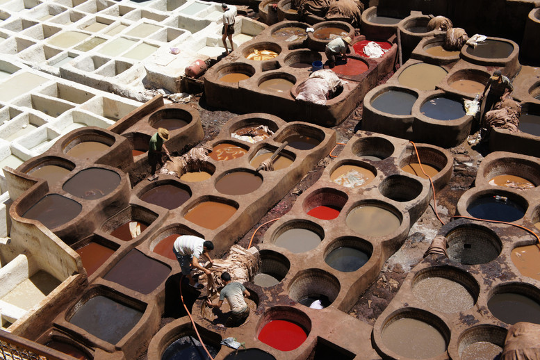 Next in our tour of Moroccan goods was the famous tannery.