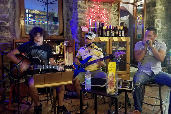 We ended the night at a bar where these guys played mostly American music.