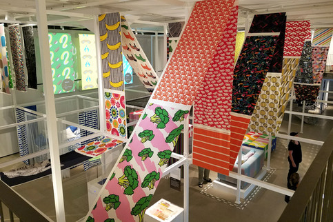 The special exhibit was devoted to IKEA textiles.