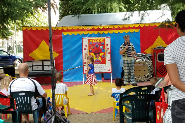 We only saw a few minutes of the circus