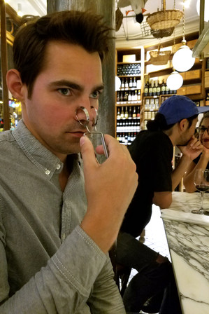 Brandon was perhaps inspired by the delicious Bordeaux we were drinking