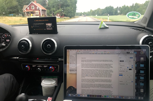 Trying to work on this here blog in the car. Clearly that didn't work out.