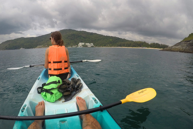 We took a kayak over to a bigger beach and spent the afternoon there (but not before capsizing the kayak pretty spectacularly).