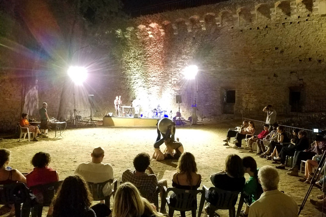 We hiked back up the hill to the fort for a jazz concert one night. The interpretive dancers were mesmerizing.