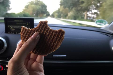 Stroopwafel car snack