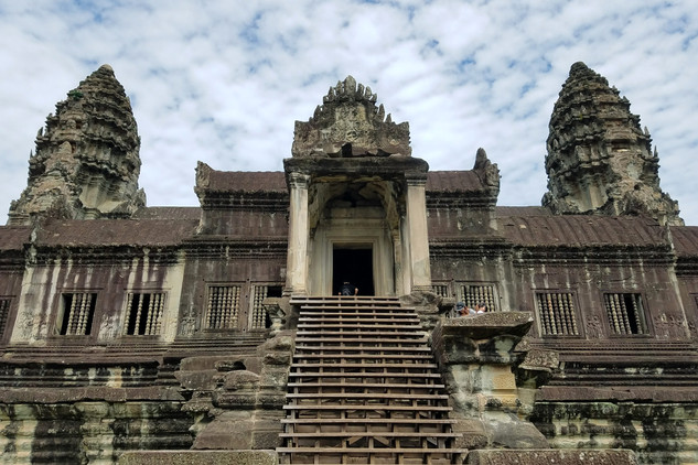 The temple's stone surface was badly damaged when an Indian company was hired to clean it in the late 80s.