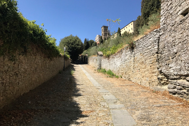 Walking up to Santa Margherita