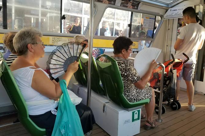 Italian ladies with fans